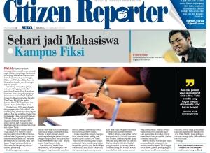 Reportase Kampus Fiksi dan Ultah UNSA-5 di Harian Surya Kamis 29 Januari 2015